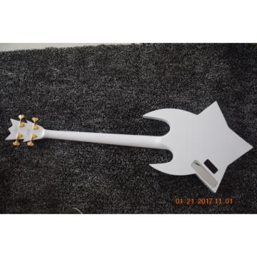Custom Built Washburn White Bootsy 4 String Bass With Crystals LED Star Inlays