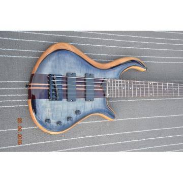 Custom Built Gray Flame Maple Top Patriot 6 String Bass