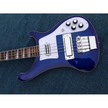 Custom Blue 4003 Neck Thru Body Construction 4 String Bass
