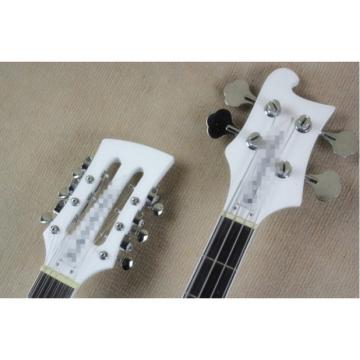 Custom 4003 Double Neck Rickenbacker White Bass