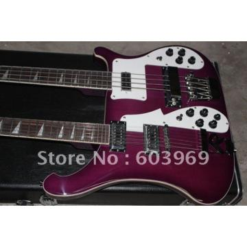 Custom 4003 Double Neck Rickenbacker Purple Bass