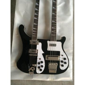 Custom 4003 Double Neck Rickenbacker Black 4 String Bass 6 String Guitar