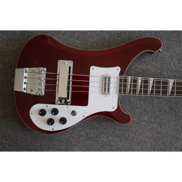 Custom 20 Frets Transparent Red 4003 Neck Thru Body Construction Rickenbacker Bass