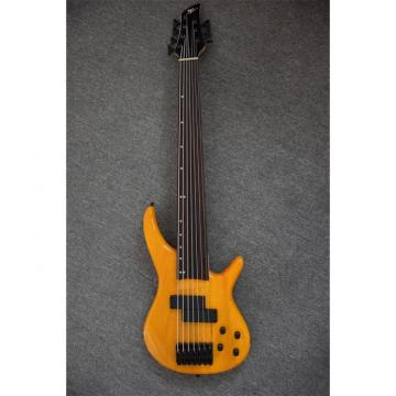 Custom Shop H&S Sequoia 7 String Fretless Natural Bass