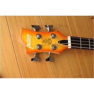 Custom Shop Languedoc 4 String Bass Orange Flame Maple Top