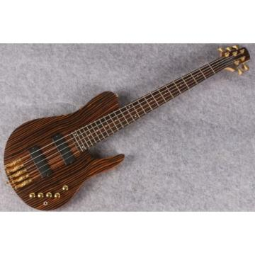 Custom Shop Butterfly Fodera 5 Strings Bass Zebra Finish