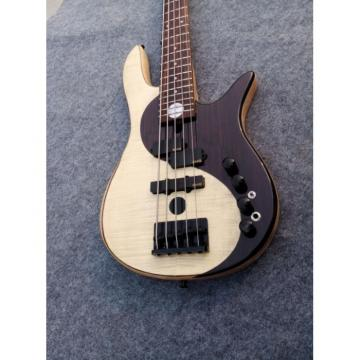 Custom Shop Fordera Yin Yang YY4 Delux 5 String Bass Standard Solid Veneer Maple Top