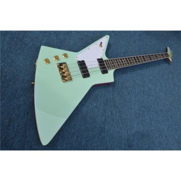 Custom Shop Explorer Sea Foam Green Teal 4 String Bass Left Handed