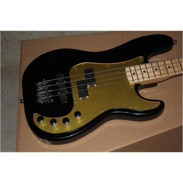 Custom Shop Black Gold Pickguard 4 String Precision Bass Wilkinson Parts