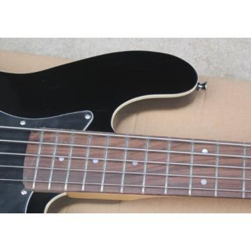 Custom Shop Black Geddy Lee 5 String Jazz Bass Rosewood Fretboard