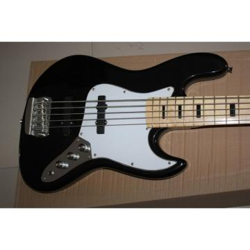 Custom Shop Black Geddy Lee 5 String Jazz Bass
