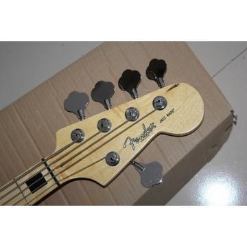 Custom Shop Black Geddy Lee 5 String Jazz Bass
