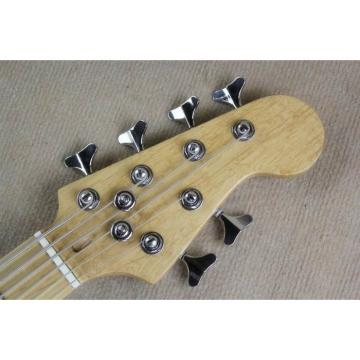 Custom Shop Black 6 String Jazz Bass Maple Fretboard