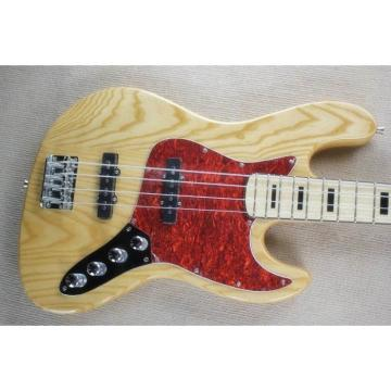 Custom Shop Ash Wood 5 String Jazz Bass Red Pearloid Pickguard