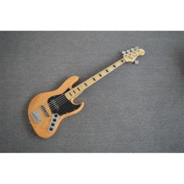 Custom Shop American Natural Ash Wood 5 String Jazz Bass