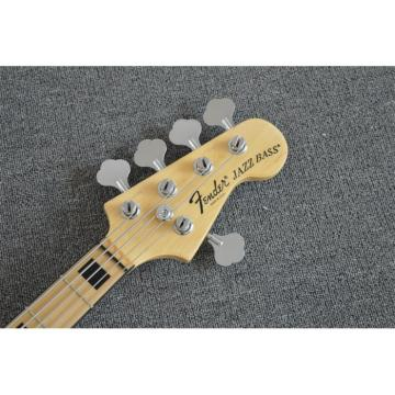 Custom Shop American Natural Ash Wood 5 String Jazz Bass
