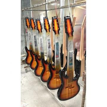 Custom Shop 8 String Black 5 Pcs Wood Electric Ken Smith Bass