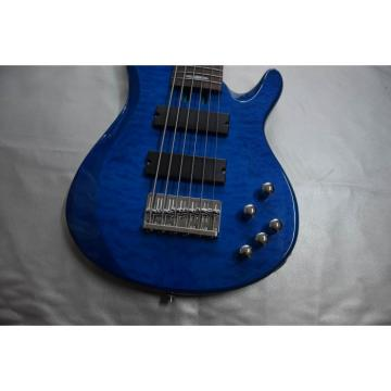 Custom Shop 6 String Blue Quilted Maple Top Yamaha Bass
