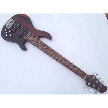 Custom Shop 6 String Bass Natural Finish Brown Chrome Hardware Strinberg