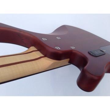 Custom Shop 6 String Bass Natural Finish Brown Chrome Hardware Strinberg