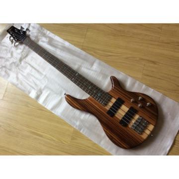 Custom Shop 5 String Bass One Piece Set Neck Brown Maple Body