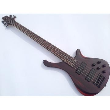 Custom Shop 5 String Bass Natural Brown Black Hardware Strinberg