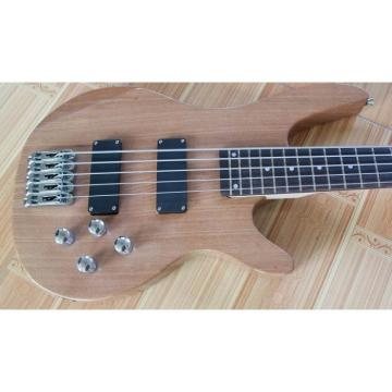 Custom Shop 5 Strings Natural Wood Electric Bass