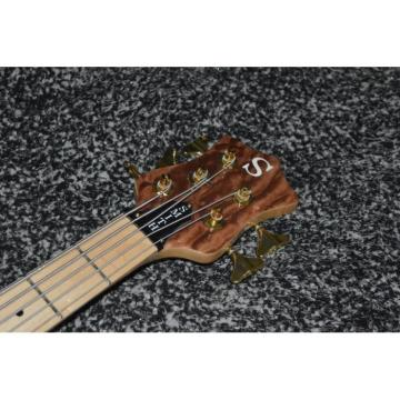 Custom Shop 5 String Natural Ken Smith Quilted Maple Top Electric Bass