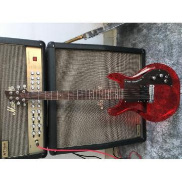 Custom Shop 4 String Ampeg Acrylic Dan Armstrong Red Bass