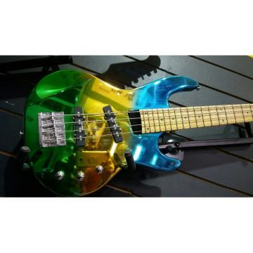 Custom Shop 4 String Bass Chrome Electroplating Painting Multi Colored