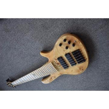 Custom Butterfly Fodera 6 Strings Bass Natural Finish
