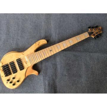 Custom Built Butterfly Fodera 6 Strings Bass Natural Finish