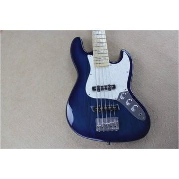 Custom Fender Ash Wood Blue Geddy Lee Jazz Bass Guitar