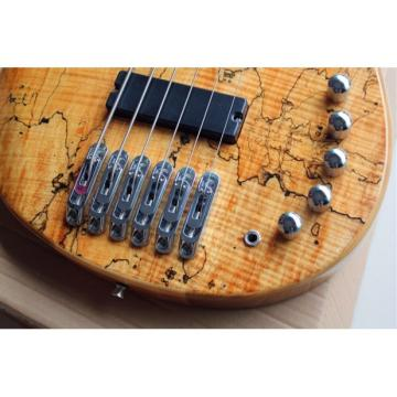 Custom Butterfly Fodera 6 Strings Bass With 9V Active Pickups