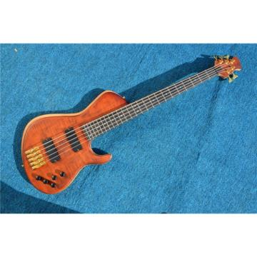 Custom American Standard 5 String Bass Rust Quilted