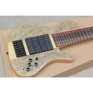 Custom Ash Wood Neck Through Body Birds Eye 7 String Bass