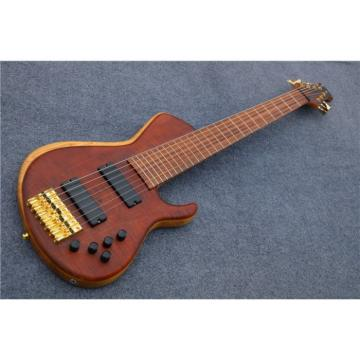Custom American Standard 7 String Rust Quilted Bass