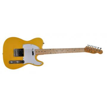 Super Yellow STL M11 Design Electric Guitar