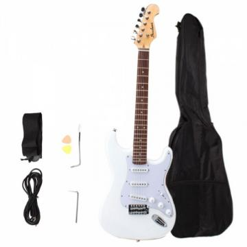 Rosewood Fingerboard Electric Guitar with Gig bag & Accessories White