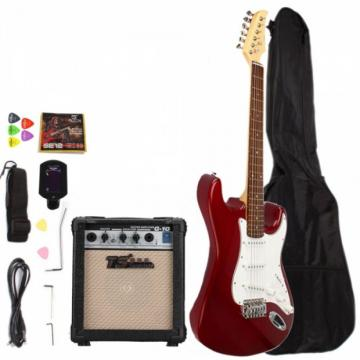 Rosewood Fingerboard Electric Guitar with Amp Turner Bag & Accessories Rosy