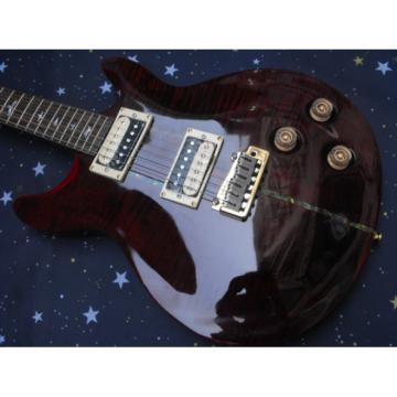 PRS Trans Dark Red Burst Single Wammy Bar Electric Guitar