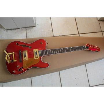 Orange Fender Precision Electric Guitar