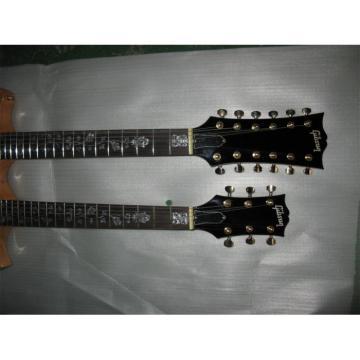 LP Natural Custom EDS 1275 Double Neck Electric Guitar