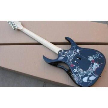 Left Handed Ibanez Jem7v Flower Electric Guitar