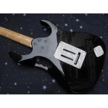 Left Handed Ibanez Jem7v Black Electric Guitar