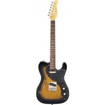 Jay Turser LT-CRUSDLX Series Electric Guitar Antique Natural Sunburst