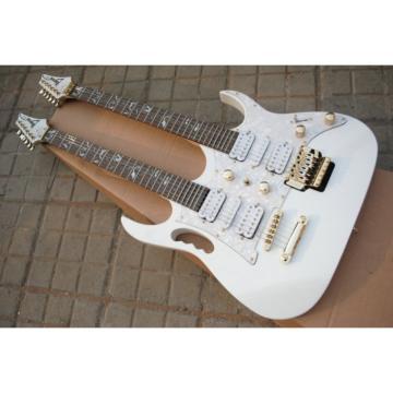 Double Neck JEM7V Floyd Rose Vibrato 6 Strings and 6 Strings Electric Guitar
