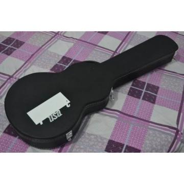 Deluxe Black Leather Wooden Electric Guitar Case