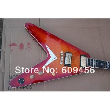 Custom Strange Flying V Sunburst Dean Electric Guitar