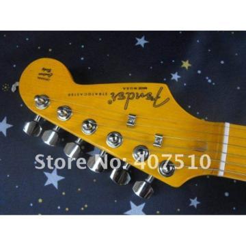 Custom Stratocaster 6 String Black Electric Guitar